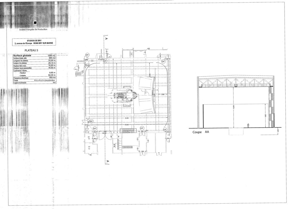 Stage layout for Abraxas stairwell set.
