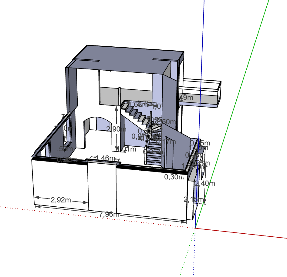 SketchUp model for ordering materials.