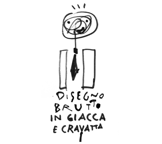Disegno Brutto - DISEGNO BRUTTO in giacca e cravatta (TERRIBLE DRAWING in the office) is the business version of DISEGNO BRUTTO created expressly for FORTYTWO, a new way to learn how to use design as a tool for creativity, communication and innovation. DISEGNO BRUTTO helps you develop your ideas by drawing badly and finding new points of view. It forces the observer's mind to add the missing parts of the design to interpret the traits and is therefore more engaging and immersive. DISEGNO BRUTTO in giacca e cravatta (TERRIBLE DRAWING in the office) is the most powerful visual thinking method and it is available for company workshops or dedicated programs.DISEGNOBRUTTO