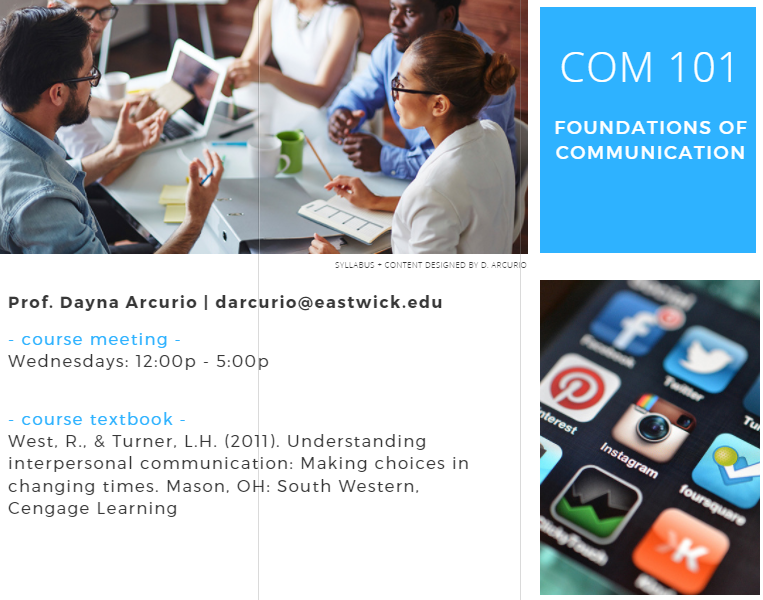 Foundations of Communication | Syllabus | Arcurio