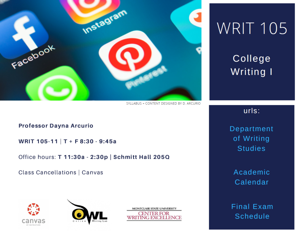 WRIT 105 | Syllabus | Arcurio