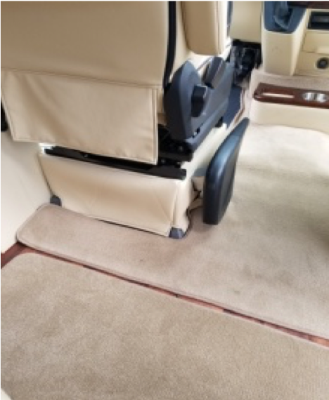 Custom Covering around Driver/Passenger Seat bottoms