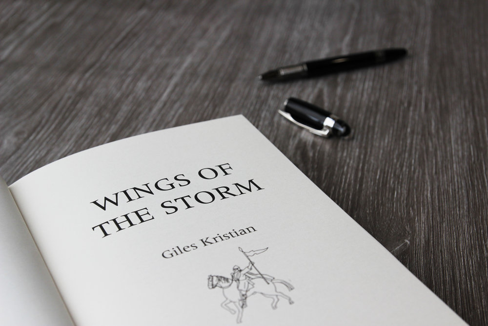 Signed copy of Wings of the Storm By Giles Kristian
