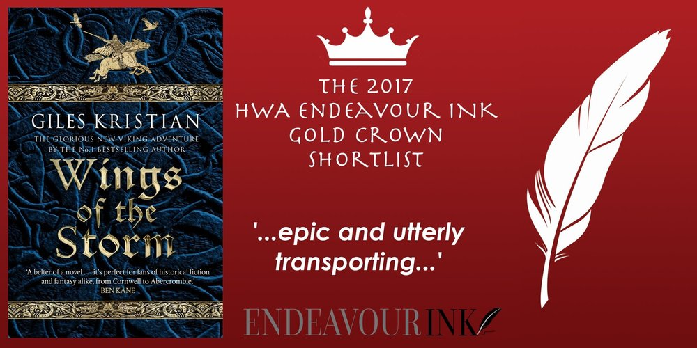Endeavour ink award Giles Kristian Wings of the Storm