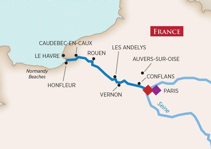 PARIS & NORMANDY - 7-NIGHT CRUISECRUISE YEAR 2018 & 2019