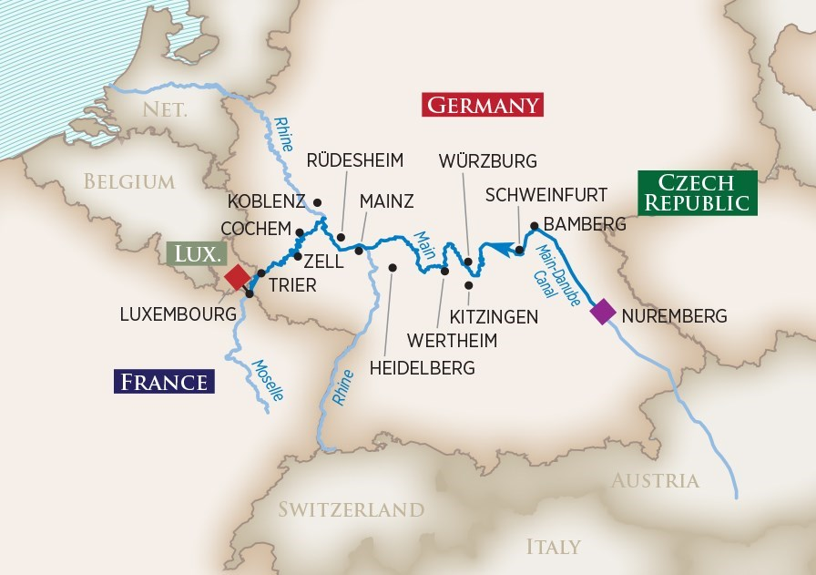 EUROPE'S RIVERS & CASTLES - 7-NIGHT CRUISECRUISE YEAR 2018 & 2019