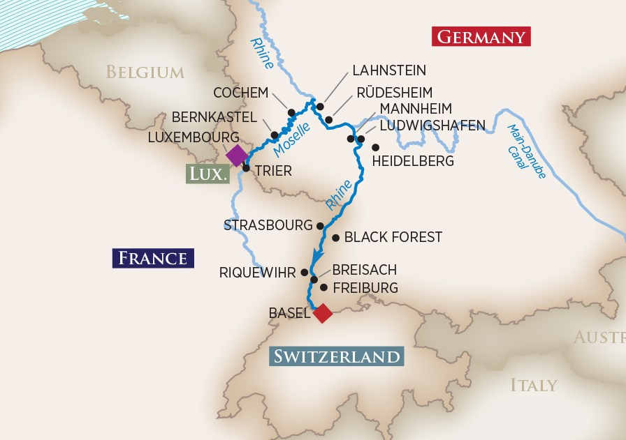 RHINE & MOSELLE SPLENDORS - 7-NIGHT CRUISECRUISE YEAR 2019