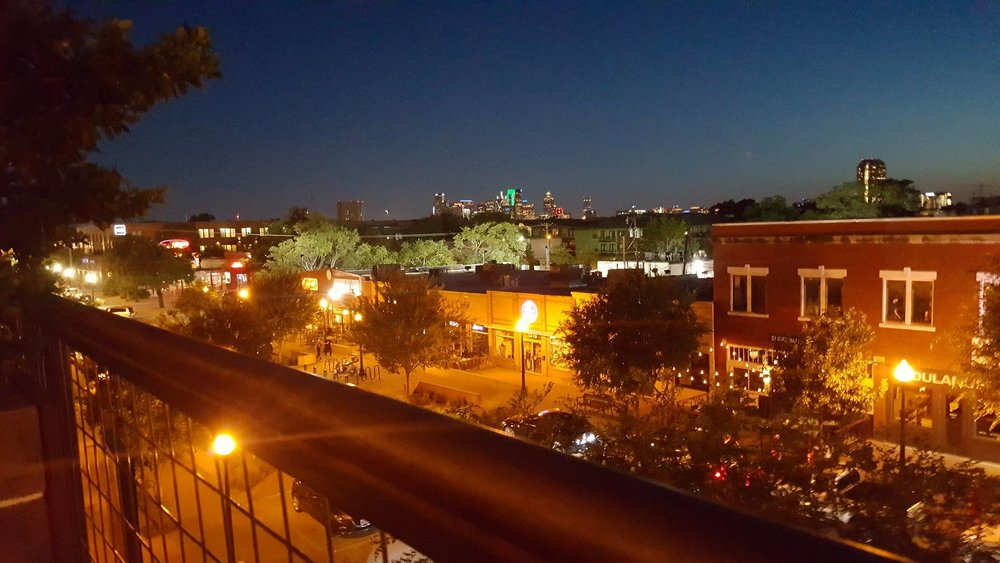 The view of Lower Greenville, from the rooftop of HG Sply.