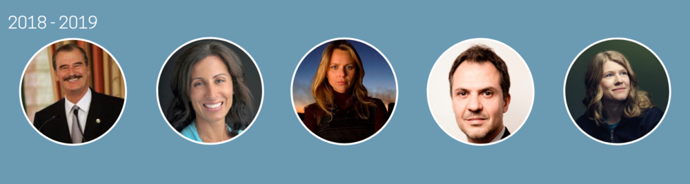 2018 - 2019  Vicente Fox, Lisa Genova, Lara Logan, Platon, Sarah Parcak