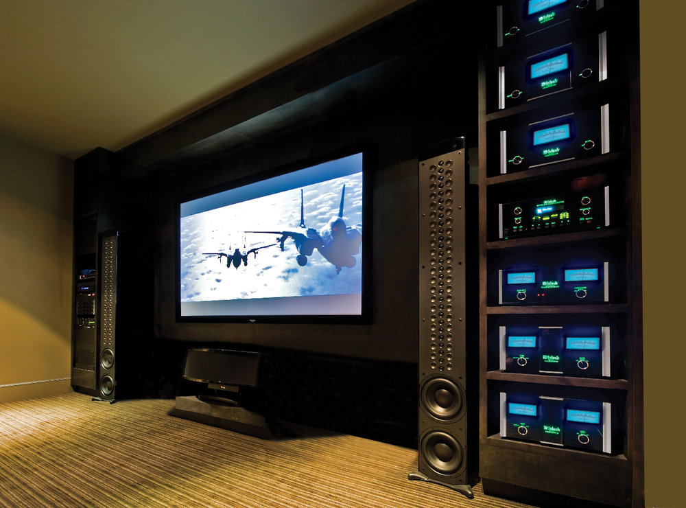 Home theater than can be seen and heard - no computer networks or automation.