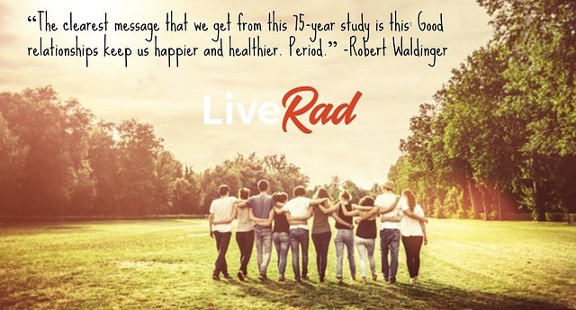 "A 75 year old study from Harvard University was recently released. The results? ""The biggest predictor of your happiness and fulfillment overall in life is, basically, love."" Read more about this interesting study: (link in bio)  #liverad #inspiringkindness #wecanalldosomething #whatwillyoudo #sharegoodness #giveback #makeadifference #love #compassion #relationships"