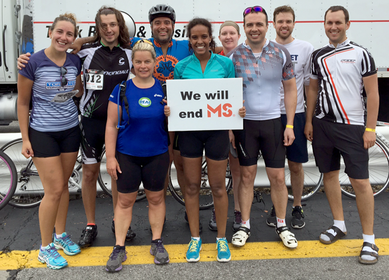 (almost) the whole team at the end of the ride