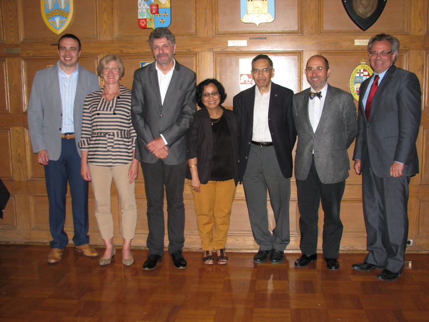(Left to Right) Drs. Steve Kerfoot (Western University), Cindy Guidos (Sick Kids Hospital, Toronto), David Kelvin (University Health Network, Toronto), Babita Agrawal (University of Alberta, Edmonton), Bhagi Singh, Joaquin Madrenas (McGill University, Montreal), and Marc Ouellette (CIHR, Institute of Infection and Immunity).