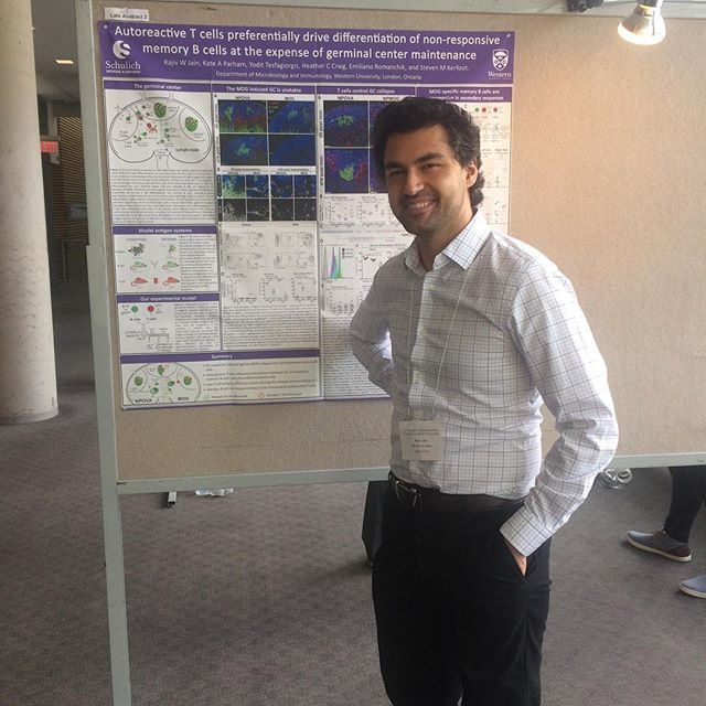 Turns out you can never really get rid of them. Rajiv joins the KerfootLab one last time and presents work along with Yodit at this years CSI meeting #PhDreturns #immunology