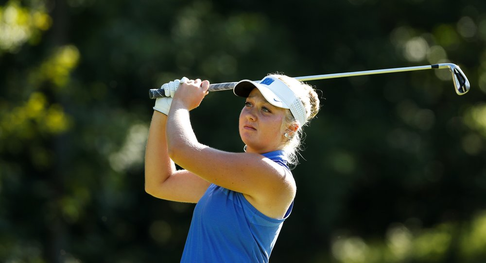 Erica Shepherd during the final match of the U.S. Girls' Junior. USGA/Steven Gibbons