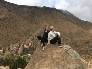 Casey and her mom, Liz, on a hike in Morocco (where LET Q-School was played).