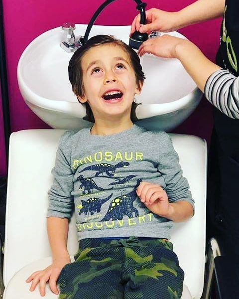 Nathan is the lucky winner of a *Free Haircut* as a result of submitting this fabulous photo! Congratulations, Nathan! We hope you keep enjoying those hair washes. Expires in 90 days. Photo courtesy of @kganamet.