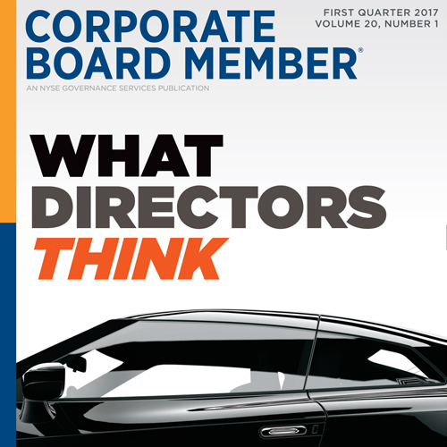 What Directors Think: Shifting Gears in 2017 CBM's 14th Annual Survey reveals guarded optimism in a shifting political landscape. READ THE COVER STORY>