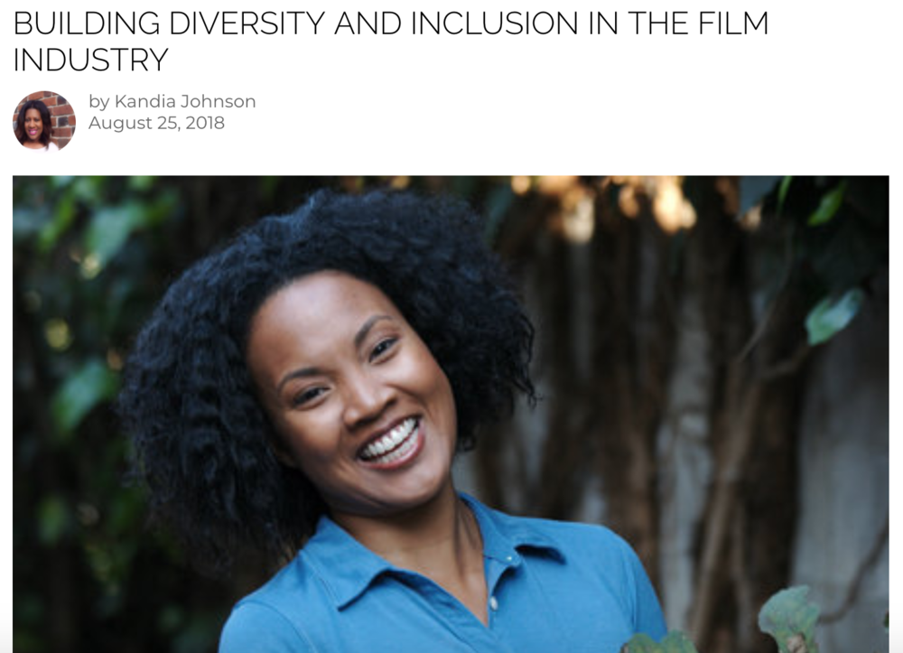 BUILDING DIVERSITY AND INCLUSION IN THE FILM INDUSTRYAugust 25, 2018 | Black Enterprise -