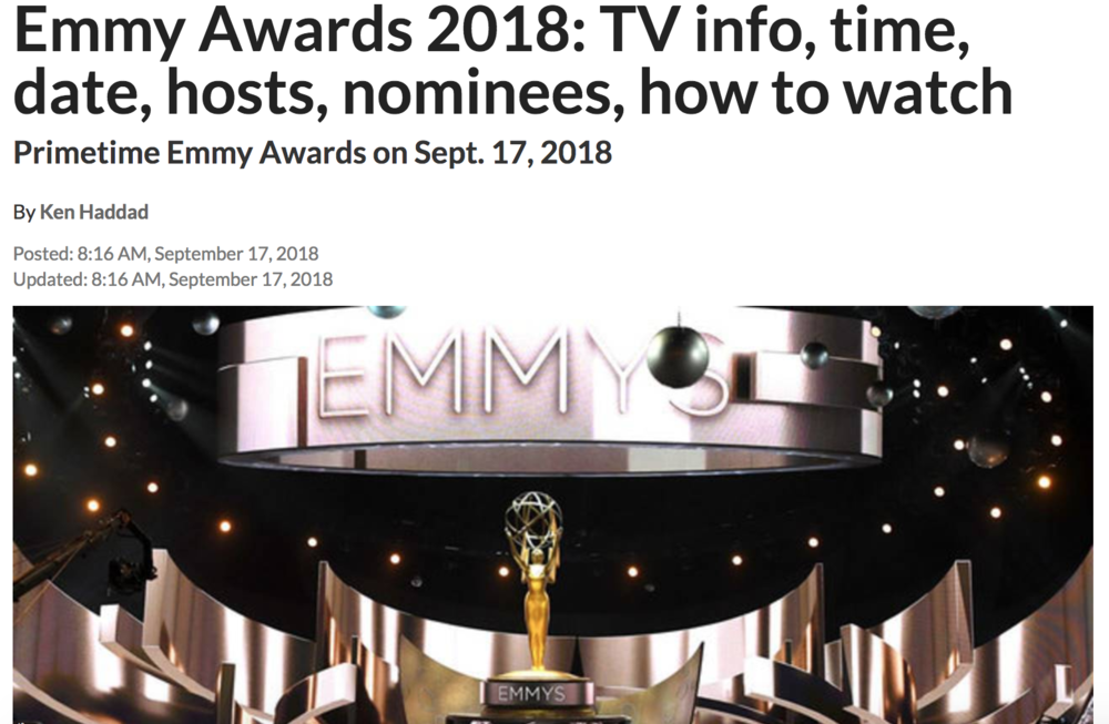 EMMY AWARDS 2018September 17, 2018 | ClickOn Detroit -