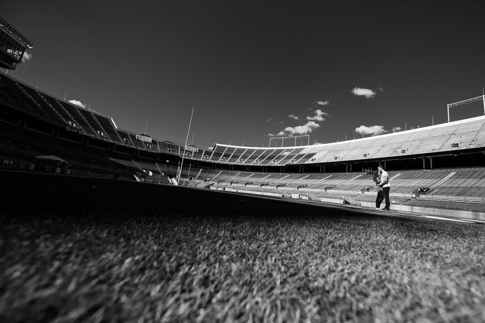 Ohio Stadium Engagement Photos - Creative Engagement Photographer Columbus