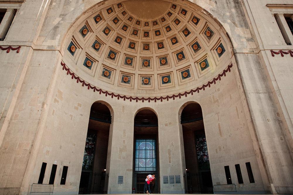 OSU Rotunda Engagement Photography - Creative Photography Ohio State