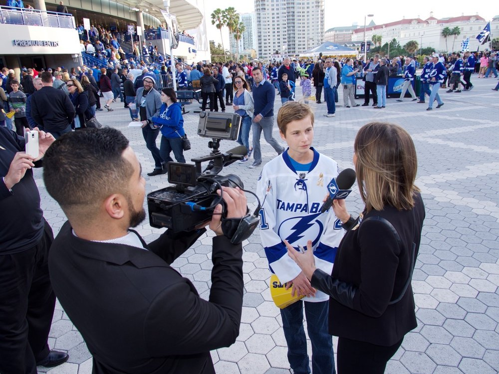 Tampa Bay Lightning Gold Out Game