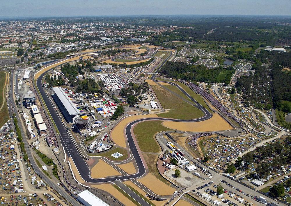 Circuit Bugatti vue du ciel, Le Mans