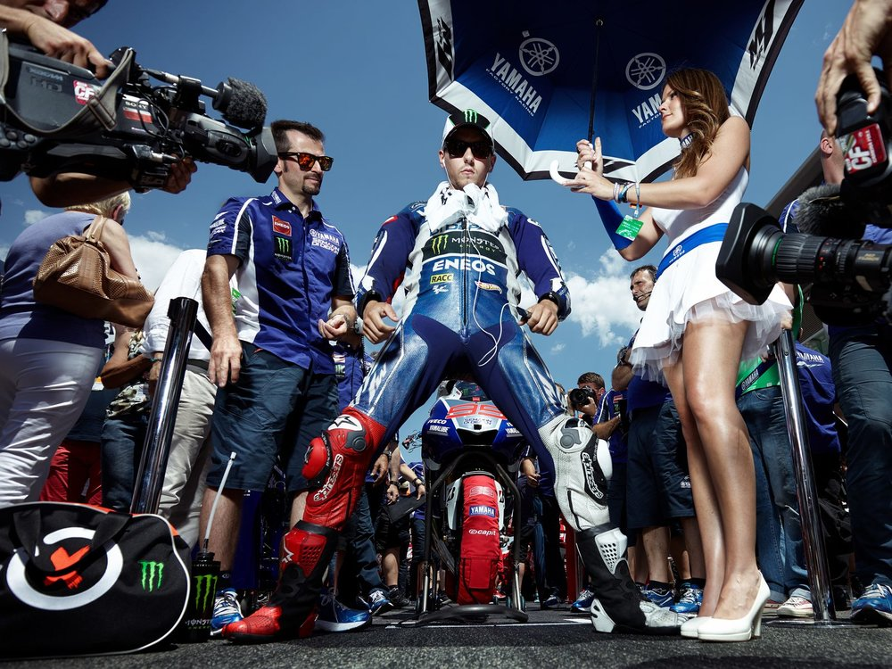 Jorge Lorenzo on strating grid
