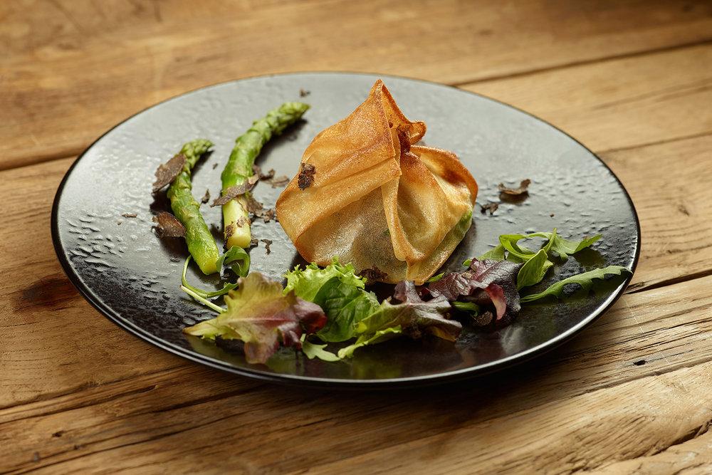 Feuillete aux asperges - Photographe culinaire