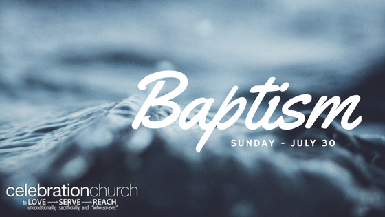 baptism sunday celebration church