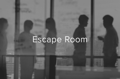 Escape Room - A hands on learning experience where participants work as a team to find clues and solve challenges to reach an objective. Immersed security awareness topics are relevant and customized to your organization.