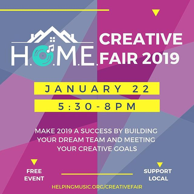 Come hang out with us at the @helpingmusic Creative Fair tonight from 5:30-8 pm! We'll be there along with several other content creators & music business associates showing off our services, and meeting with songwriters, artists, bands, musicians and any other creatives looking to build their teams and find success in 2019! Come see how we can help!  #helpingmusic #goals #musiccity #nashville #songwriters #dreamteam #podcasters #musicians #freeevent #supportlocal