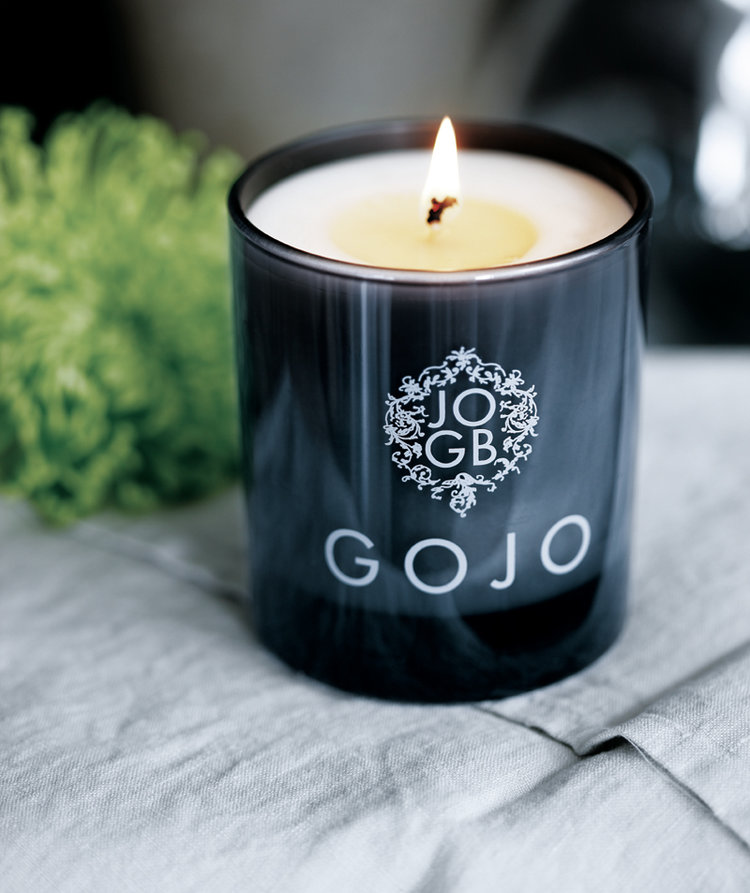 Pure soy and rapeseed sustainable candles by JOGB…GOJO contains bergamot, lemongrass and frankincense