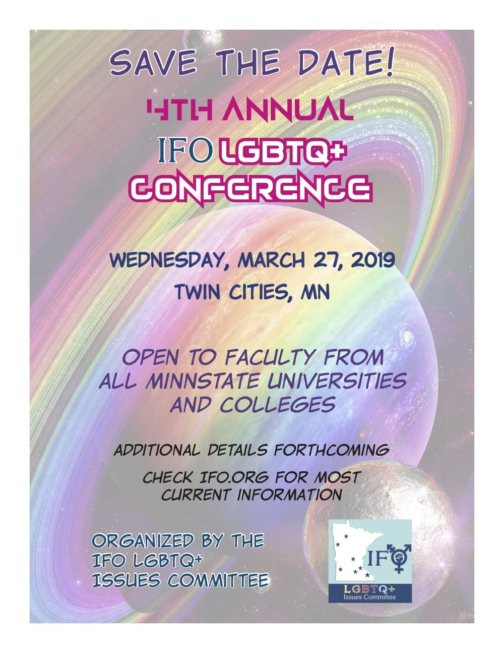 save the date ifo lgbtq conference inter faculty organization