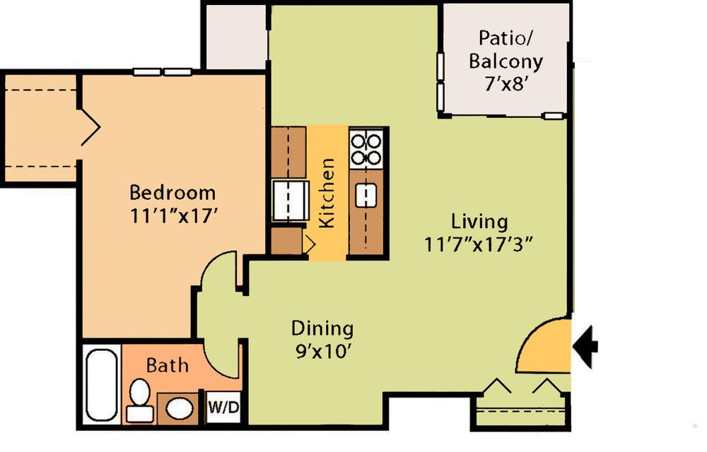 718 sq ft $1,259 - $1,569