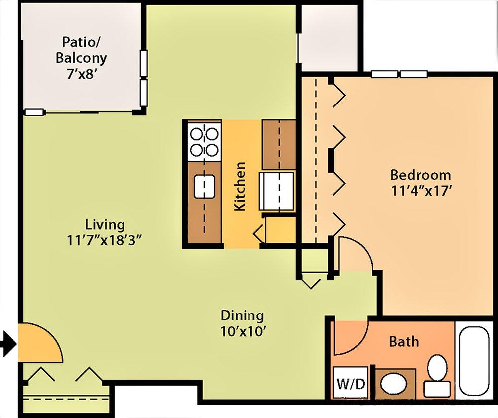764 sq ft $1,279 - $1,579
