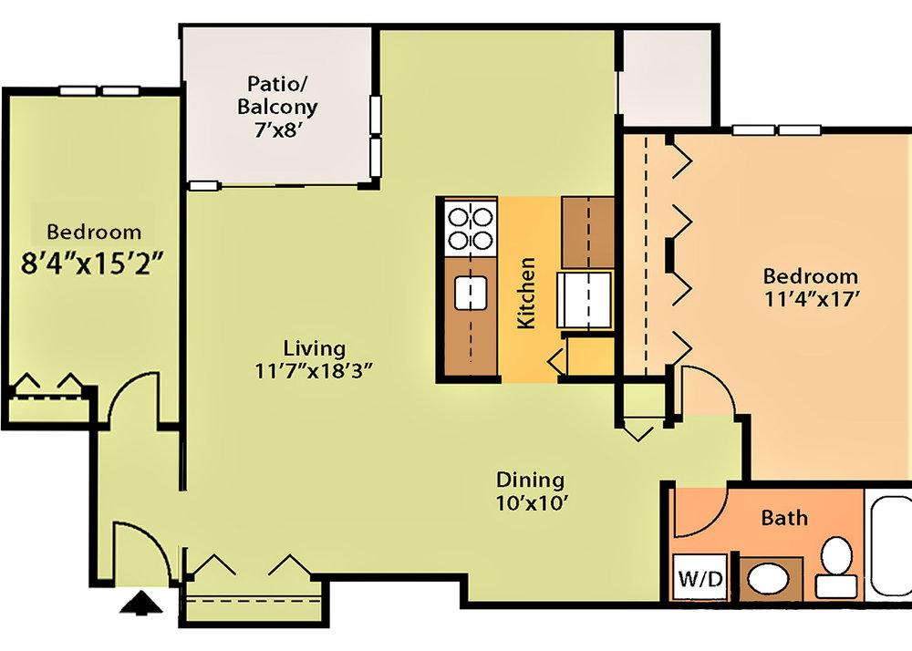 902 sq ft $1,445 - $1,745