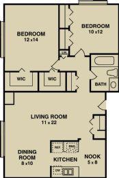 860 sq ft $849 - $949