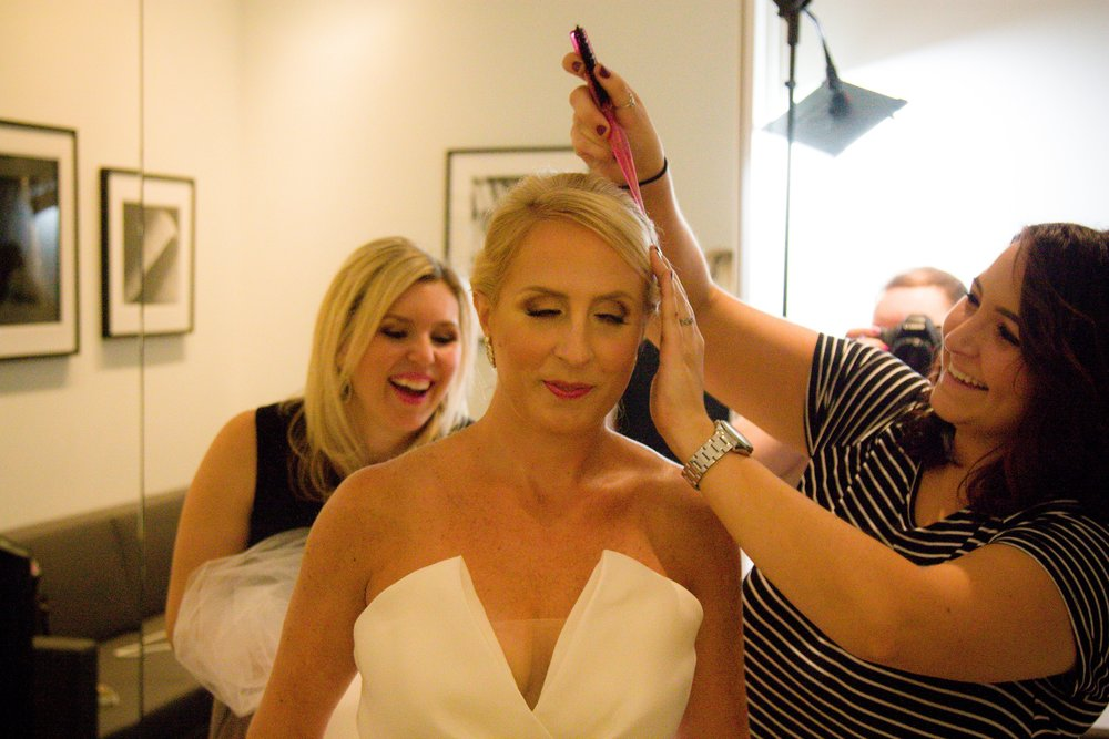 Venue: Columbus Museum of Art  Makeup: Columbus Bridal Makeup  Hair: Claire O'Toole  Dress: La Jeune Marie  Photo Credit: 614 Wedding Photography