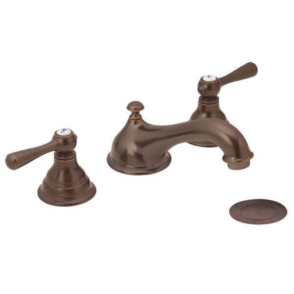 Bath Faucets   Moen Kingsley Two Handle Low Arc, Oil Rubbed Bronze   With classic Kingsley, each understated detail--like decorative hot/cold temperature inlays, simple lever handles and arched spout--comes together to create enduring, stand-out style.