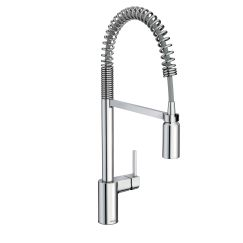 kitchen faucet   Align Chrome One-Handle Pre-Rinse Spring Pulldown Kitchen Faucet   From intimate galley kitchens to large gourmet workstations, Align faucets bring a refreshed, modern look to your home. Simple lines create the contemporary style, while a pulldown wand delivers in-demand functionality.