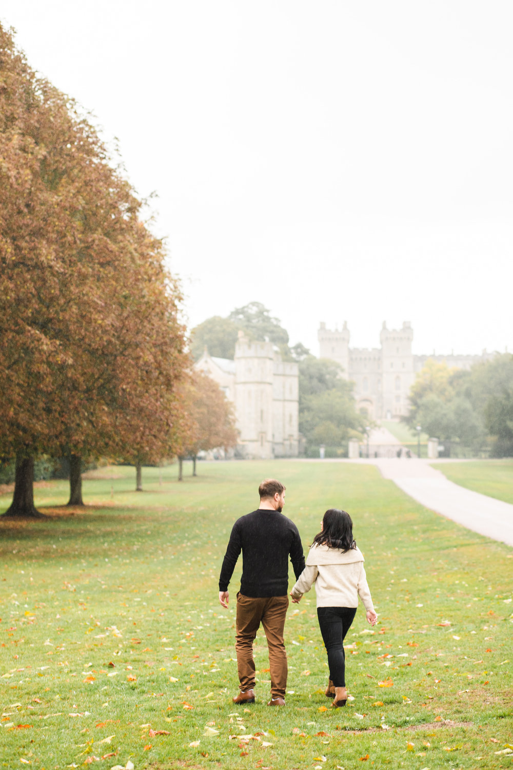 Windsor Castle Engagement in the Rain