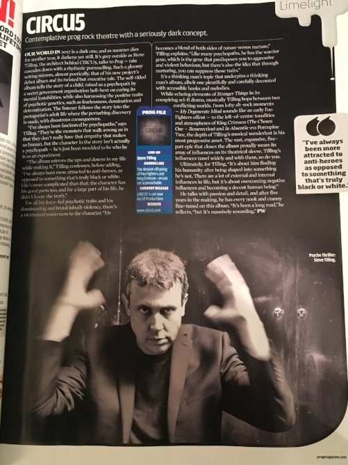 Prog magazine feature