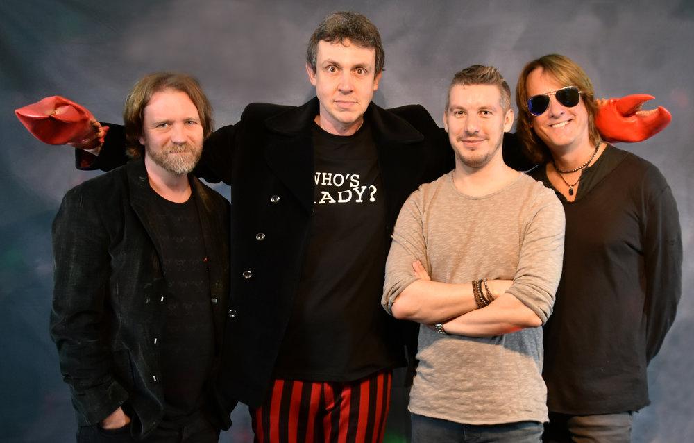 CIRCU5 band - left to right: Mark Kilminster, Steve Tilling, Greg Pringle, Matt Backer
