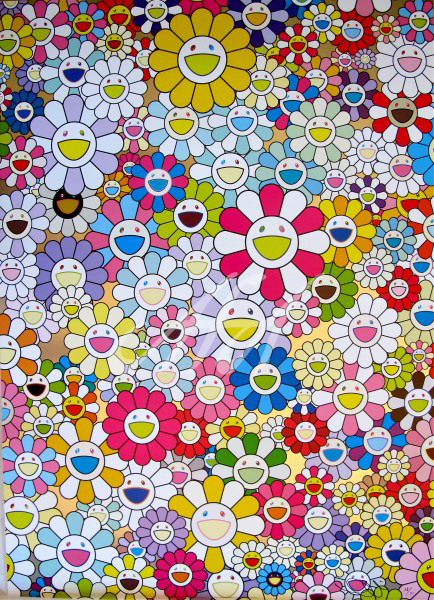 Takashi Murakami - An Homage to Yves Klein, Multicolor D watermark.jpg