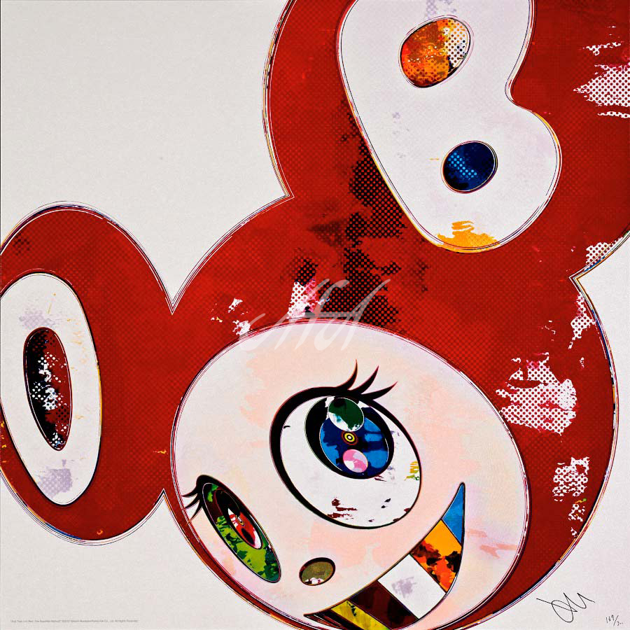 Takashi Murakami - And Then x 6 (Red - The Superflat Method) watermark.jpg