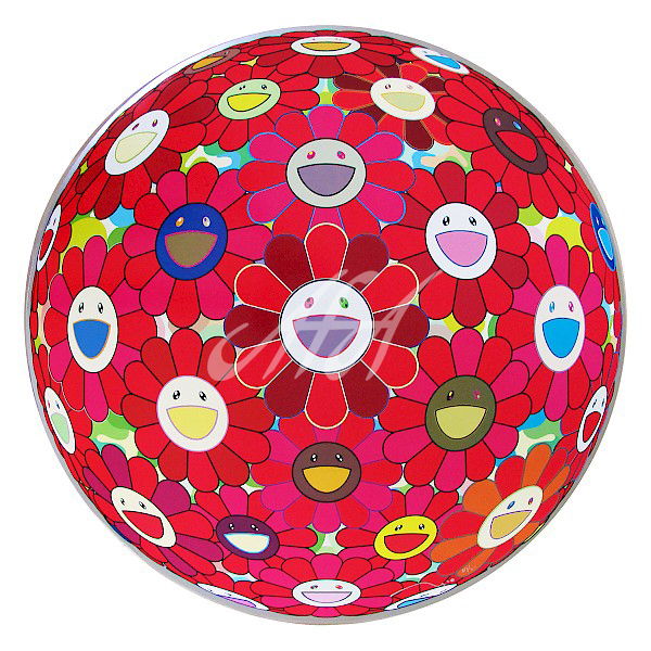 Takashi Murakami - Flower Ball 3D Red Cliff watermark.jpg