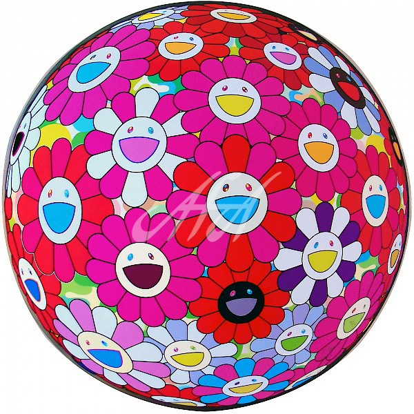 Takashi Murakami - Flower Ball 3D Turn Red watermark.jpg