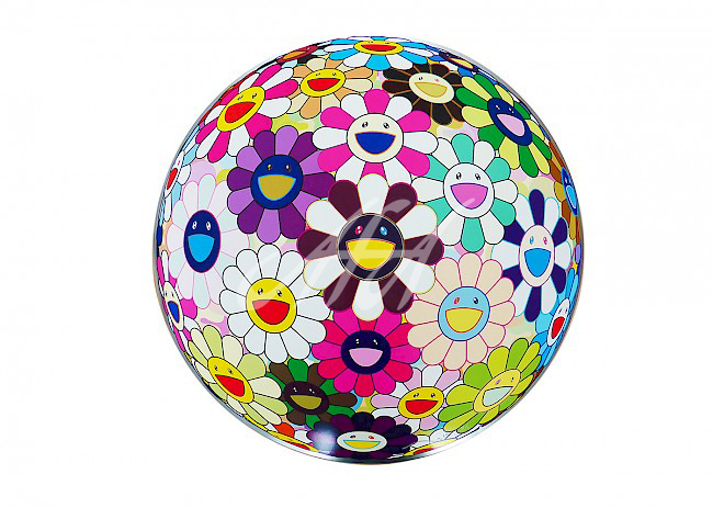 Takashi Murakami - Flower Ball Brown watermark.jpg